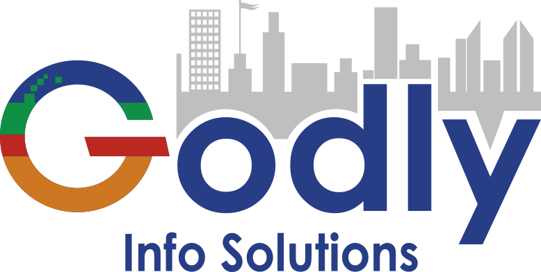 godly info solution is the software company and its  logo
